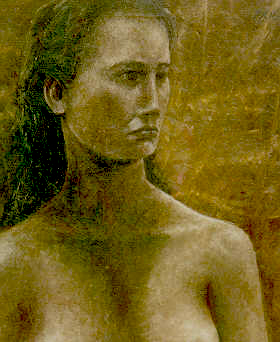 Woman in Umber / Painting by Ralph Papa