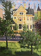 House across from LaFayette Park by Ralph Papa