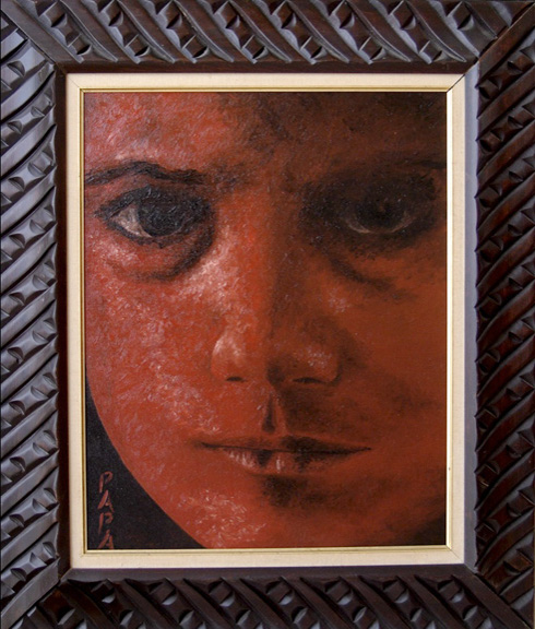 Red Face; Painting by Ralph Papa